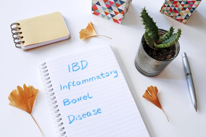 Digestive health IBD Inflammatory Bowel Disease written in notebook