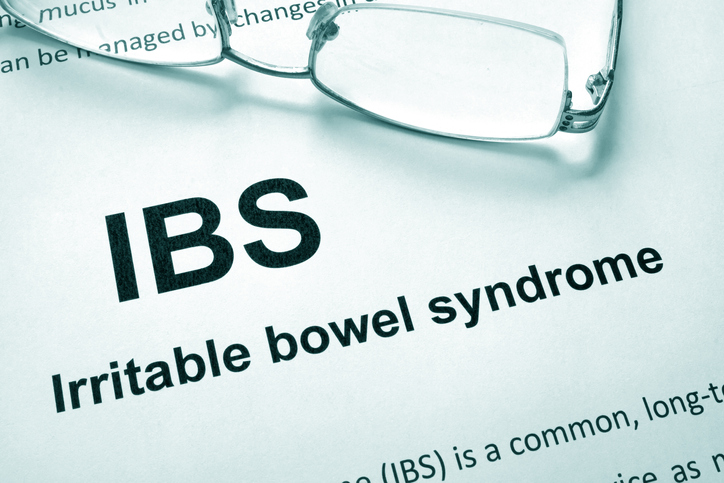 digestive health IBS definition and a pair of glasses