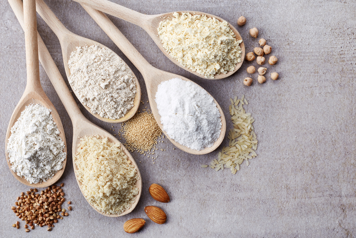 gluten-free flour examples on a gluten-free meal plan