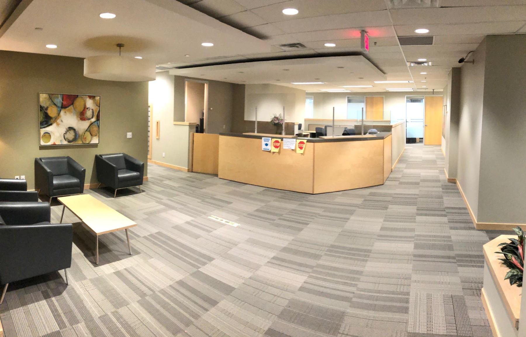 JM Nutrition Scarborough office inside the suite waiting area